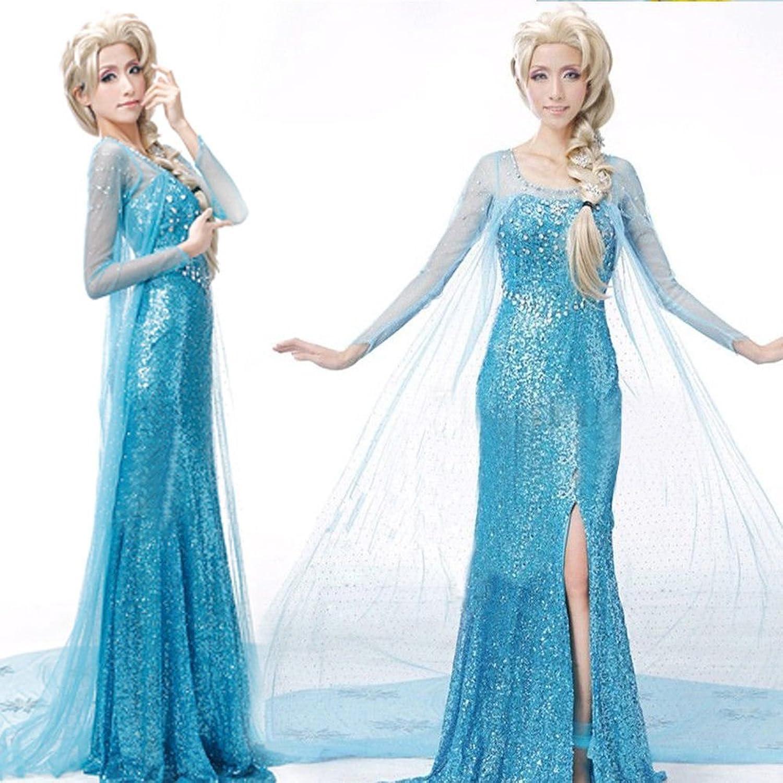 Lonely hero Damen Elegante Prinzessin Elsa Kleid mit warmer Stola