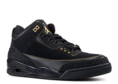 Nike Air Jordan III 3 BHM Black History Month 2011 Sneaker's Black Metallic  Gold 455657-