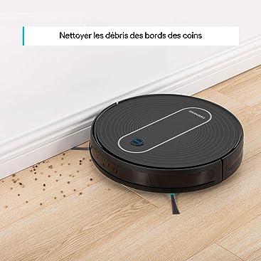 carga autom/ática 1500 Pa s/úper fino para pelo de animales Aspirador robot aspirador de lavadora Deenkee 6,9 cm suelos duros con 6 modos de limpieza alfombras