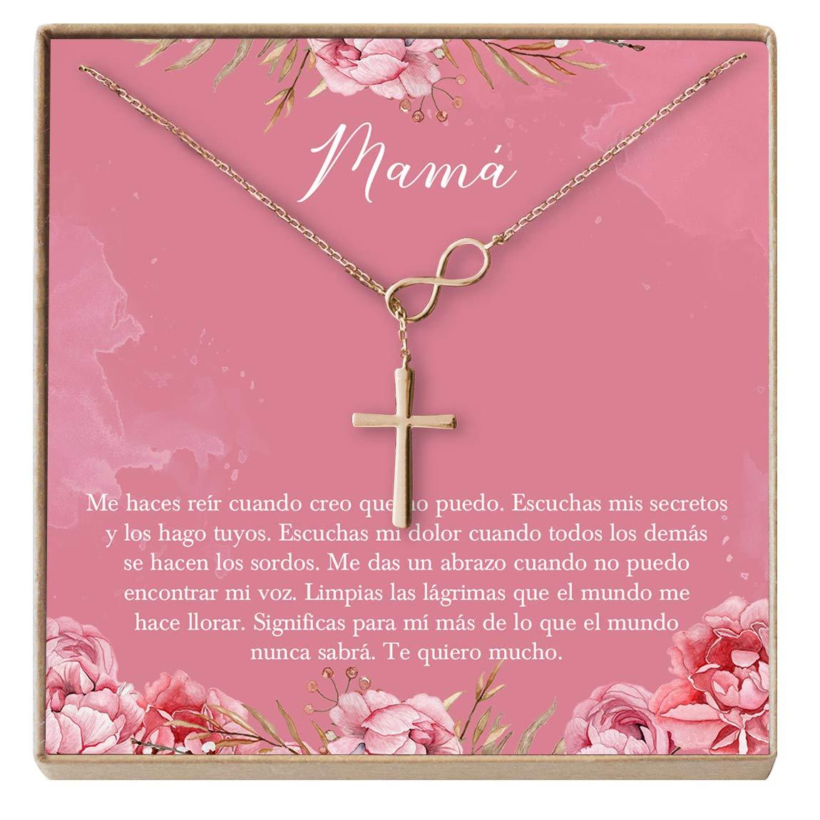 D/ía de la Mujer Cumplea/ños Infinity Cross Collar Regalo para Madre Mam/á D/ía de la Madre
