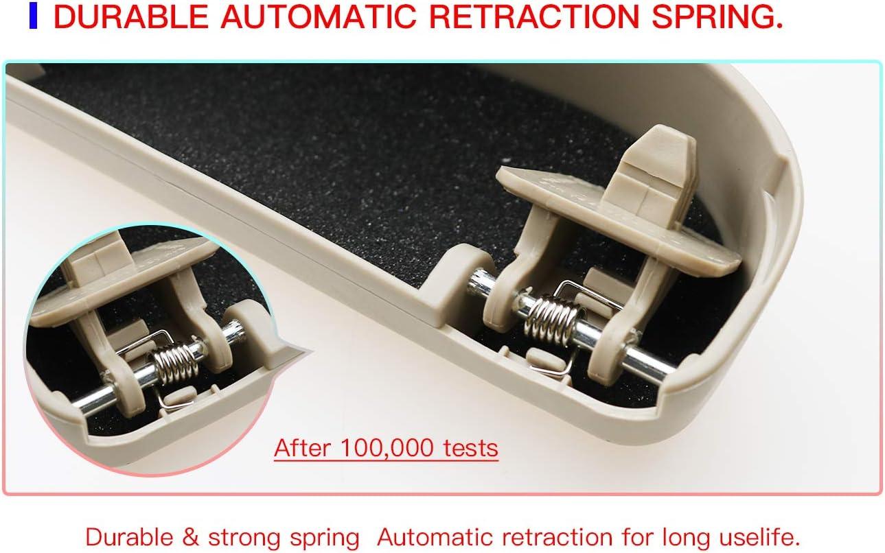 Beige CDEFG Auto Coche Gafas Caja Organizador Gafas de Sol Soporte Almacenamiento Bolsillos para Lexus ES NX RX UX