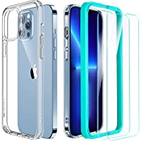 ESR Case and Screen Protector Set Compatible with iPhone 13 Pro, Includes 2-Pack Tempered-Glass Screen Protectors…
