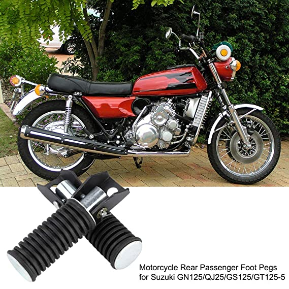 1 Pair Aluminum Alloy Motorcycle Modified Footrest Pedal Foot Pegs Suuonee Motorcycle Foot Pegs Black
