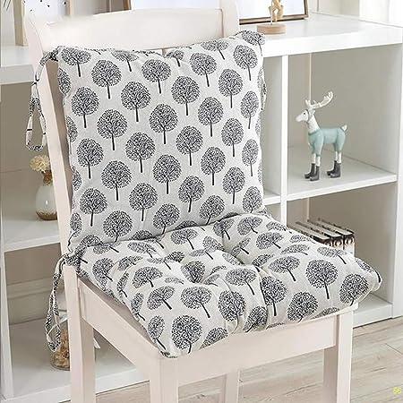 QHQH Cuscini di Seduta Cuscino Sedia, Tessuto di Cotone E