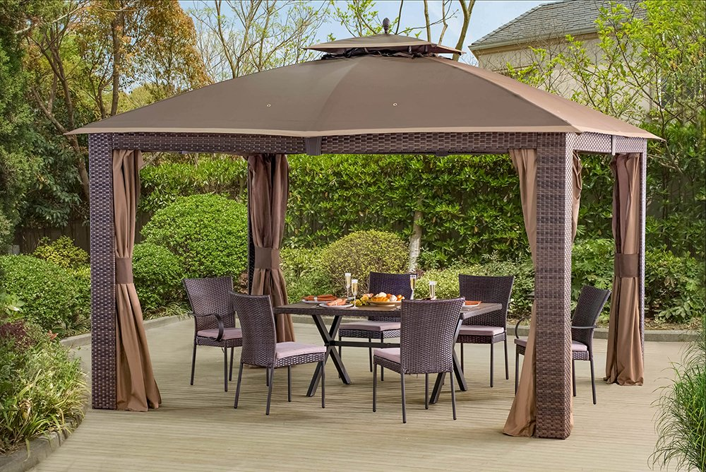 free standing pergola with canopy outdoor patio