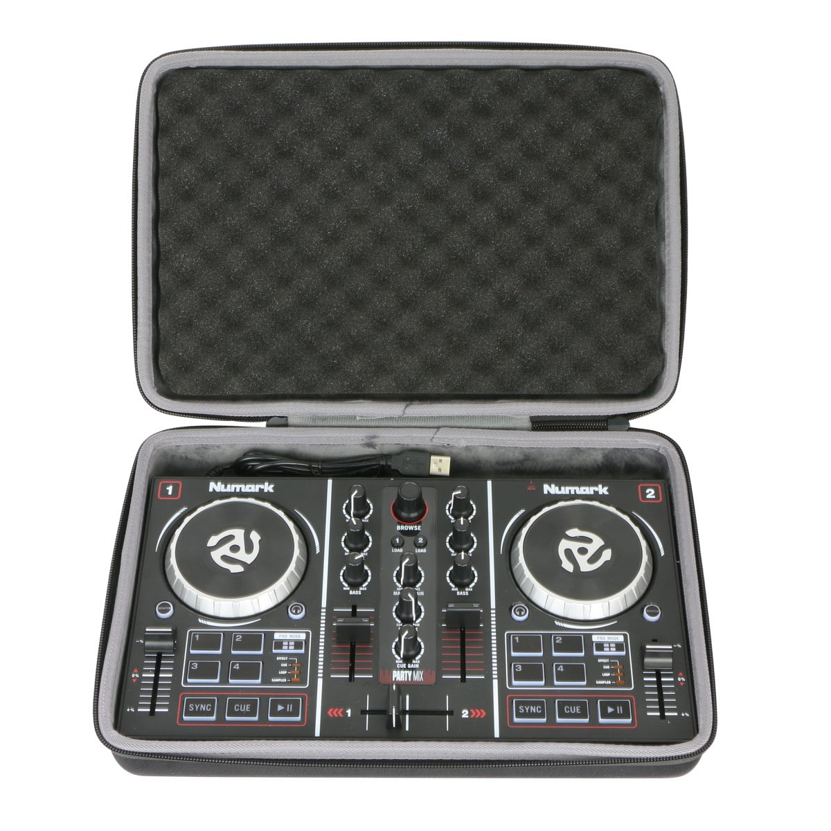 Hard Travel Case for Numark Party Mix | Starter DJ Controller by co2CREA 4334354539