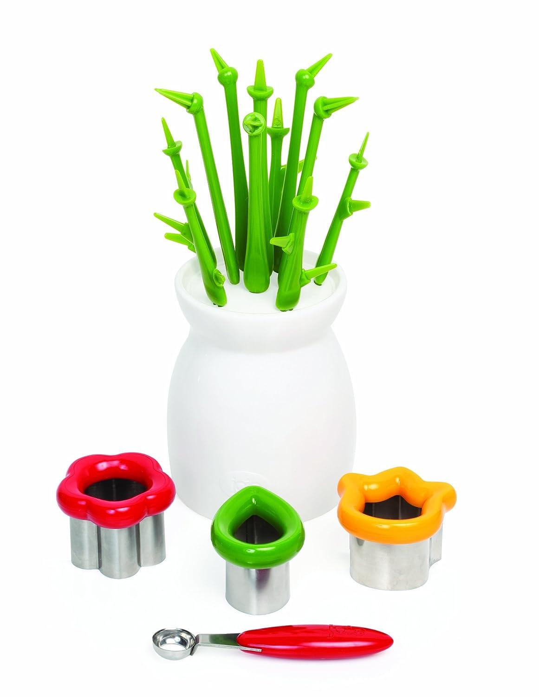 amazon com joie decorative fruit cutter set and reusable display amazon com joie decorative fruit cutter set and reusable display vase gift box home kitchen