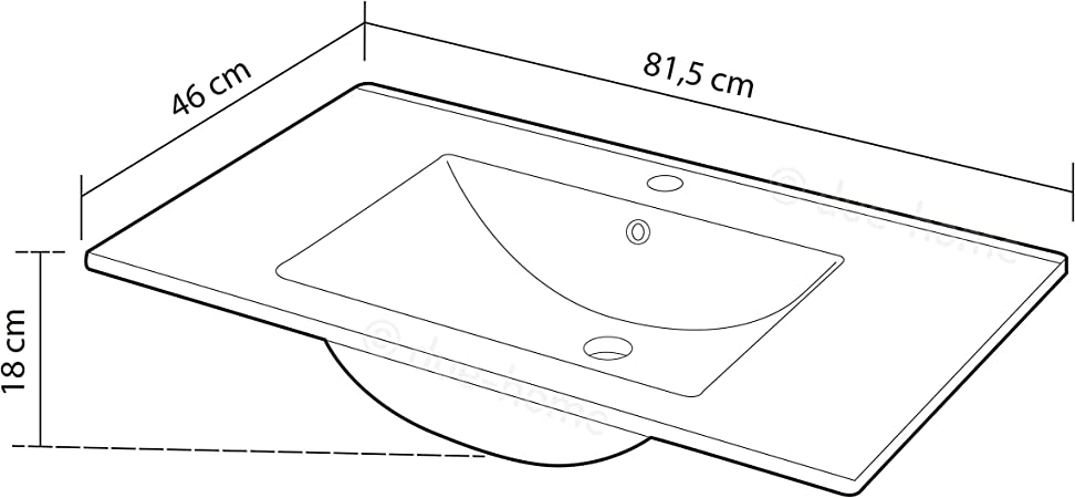 /Lavabo en c/éramique 80/cm Arkitmobel 305910o/