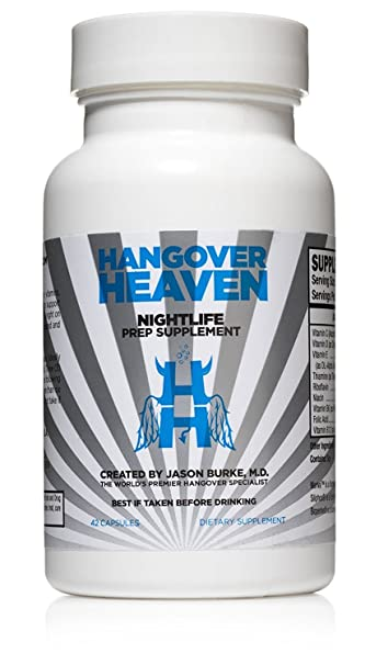 Hangover Heaven Nightlife Prep Supplement, Prevent Hangover Symptoms, 42  Count Bottle