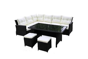 Salon de jardin Aluminium 8 places, mobilier de jardin ...