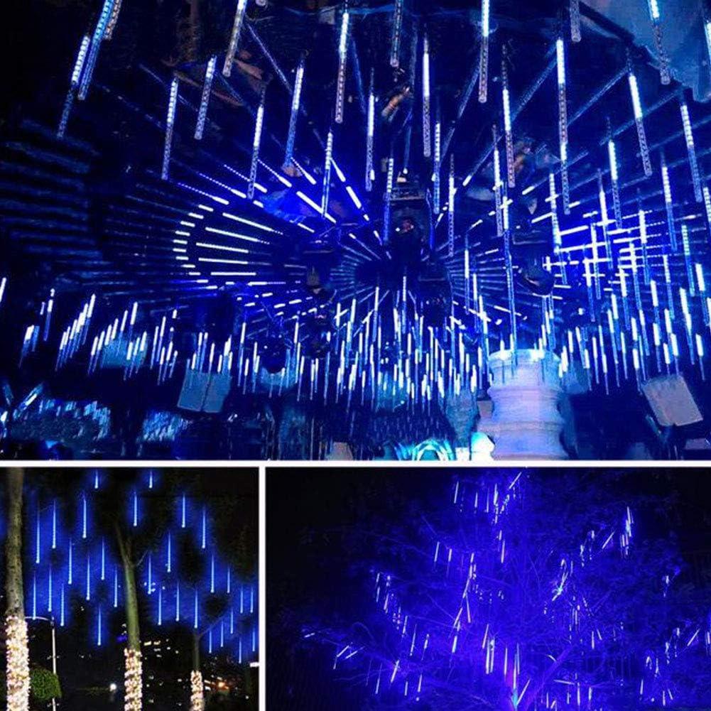 shsyue lumi/ères tombantes solaires avec 30cm 10 tubes 360LEDs imperm/éable pour la d/écoration ext/érieure darbres de f/ête de jardin rouge Lumi/ères de douche de m/ét/éore