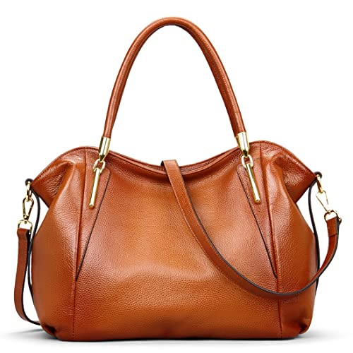 f8679d1bd0 AINIMOER Womens Genuine Leather Vintage Shoulder Bag Ladies Handbags Tote  Top-handle Purse Cross Body