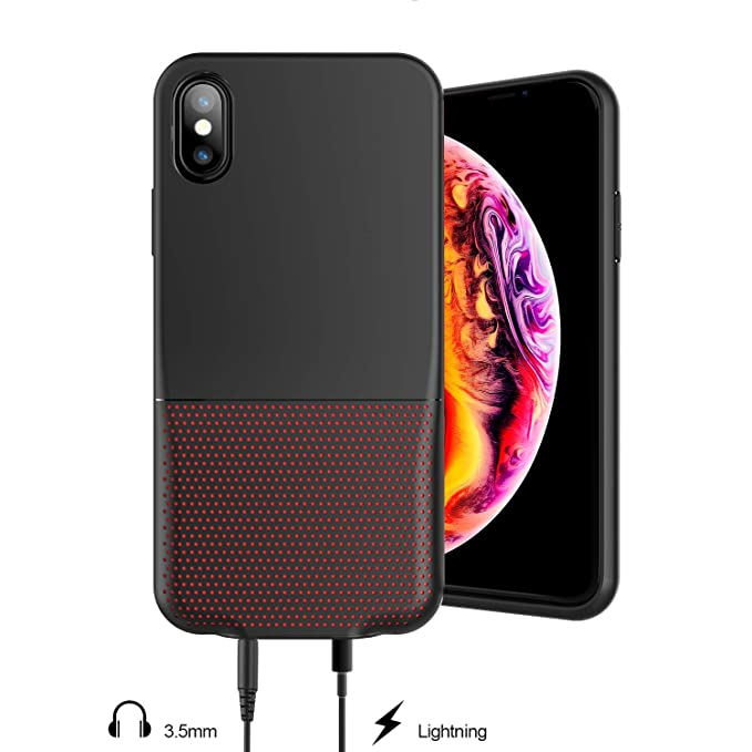 sale retailer 1cd69 2c622 iPhone XS/X Audio Case,Laudtec 3.5mm & Lightning Jack Adapter Case For  Apple iPhone XS