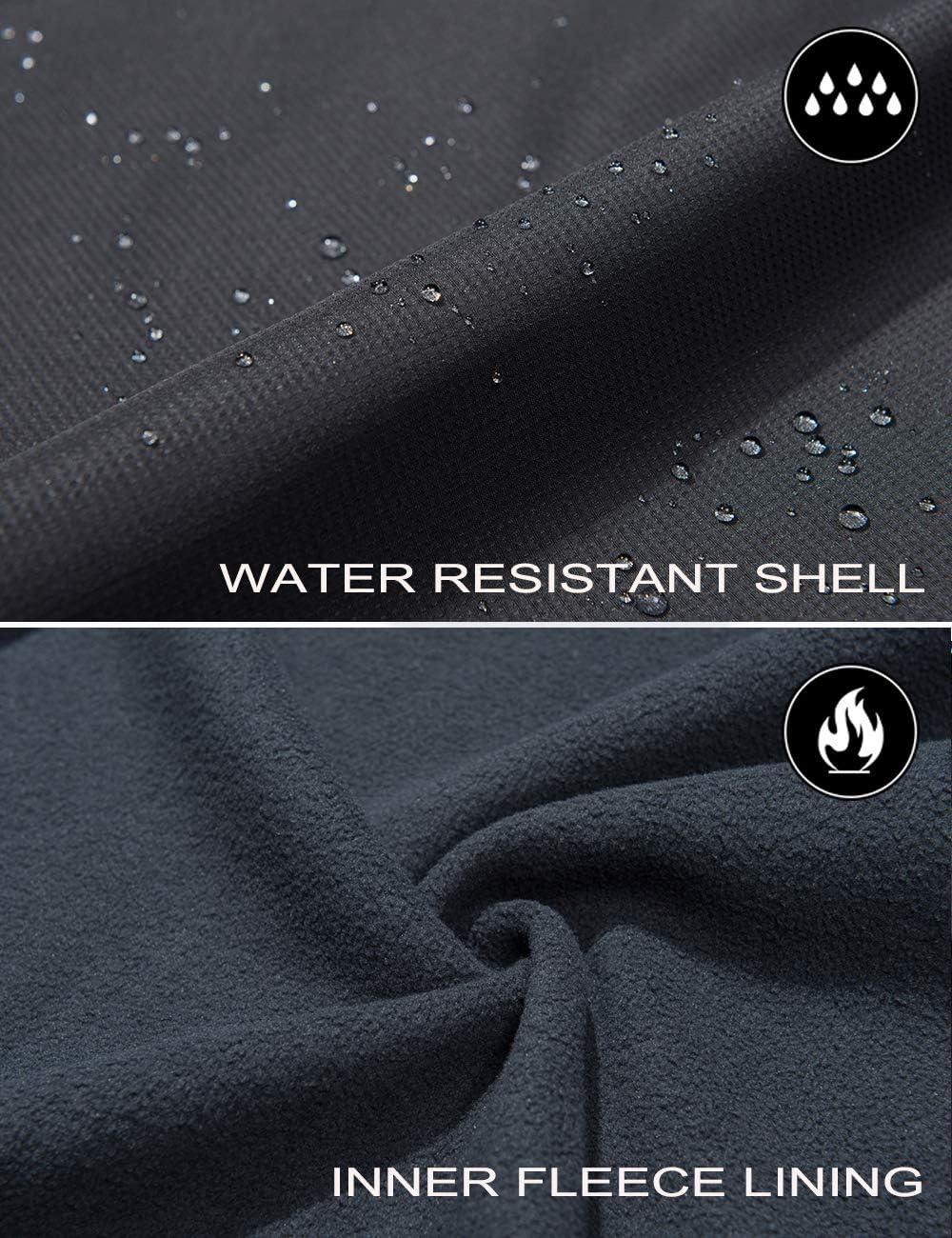 Resistente al Agua Chaqueta de esqu/í de Forro Polar con Capucha Desmontable TACVASEN Chaqueta 3 en 1 para Hombre