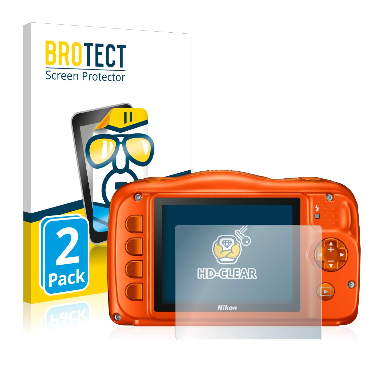 2 Unidades Transparente BROTECT Protector Pantalla Compatible con Nikon Coolpix W150