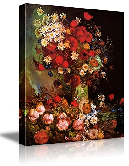Amazon wall26 poppy flowers by vincent van gogh oil wall26 poppy flowers by vincent van gogh oil painting reproduction on canvas prints wall mightylinksfo
