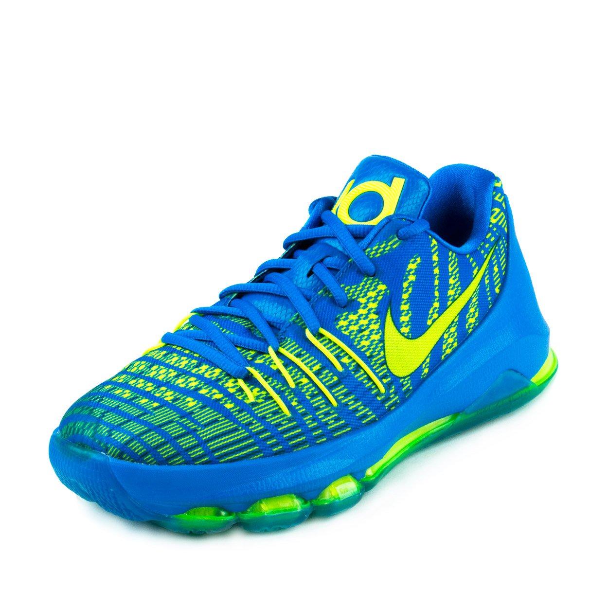 Nike Kids KD 8 (GS) Hyper Cobalt/Volt/Dp Ryl Blue Running Shoe 6 Kids US by NIKE