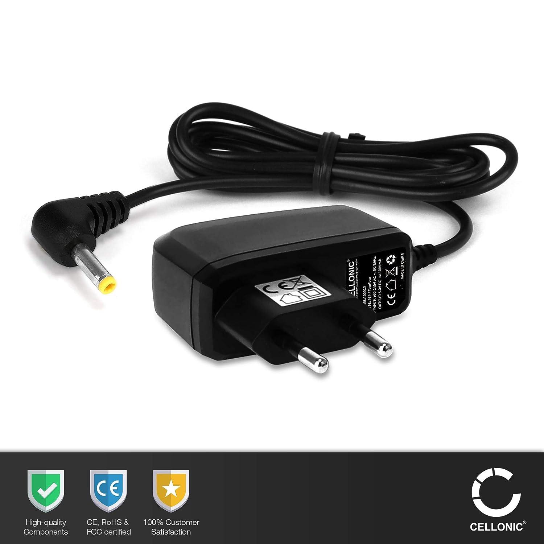 CELLONIC® Cargador 1,20m, 1A Compatible con Sony PSP-1000/1004 / 2000/2004 / 3000/3004 / E1000 / E1004, 5V 4.0mm x 1.7mm Cable de Carga