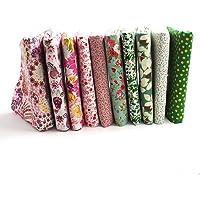 Raylinedo® 10pcs diferente patrón Multi Color 100% algodón
