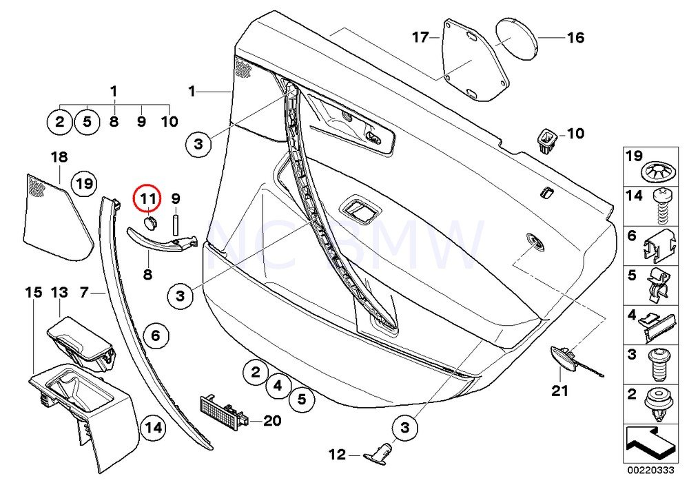 Amazon Com Bmw Genuine Bolt Covering Cap Recessed Door Opener