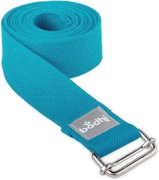 Cinturón de yoga Asana Belt de algodón con hebilla de metal, práctico de accesorios, Basic lijadora No solo para principiantes: Amazon.es: Salud y cuidado personal