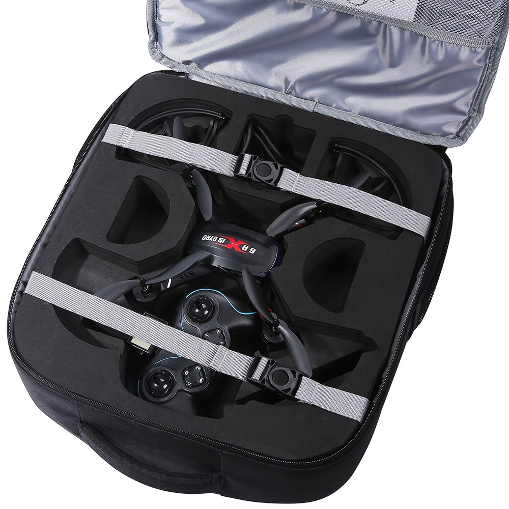 HS100 nor HS700 Not for HS120D Holy Stone Drone Carrying Case Quadcopter Backpack Waterproof Portable Traveling Bag Cases for F181C F181W HS200 HS110D HS200D and Accessories