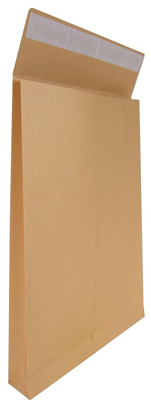 Idena 346096–Busta B4Haftklebend Senza Finestra, fondo 4cm, 10pezzi, marrone