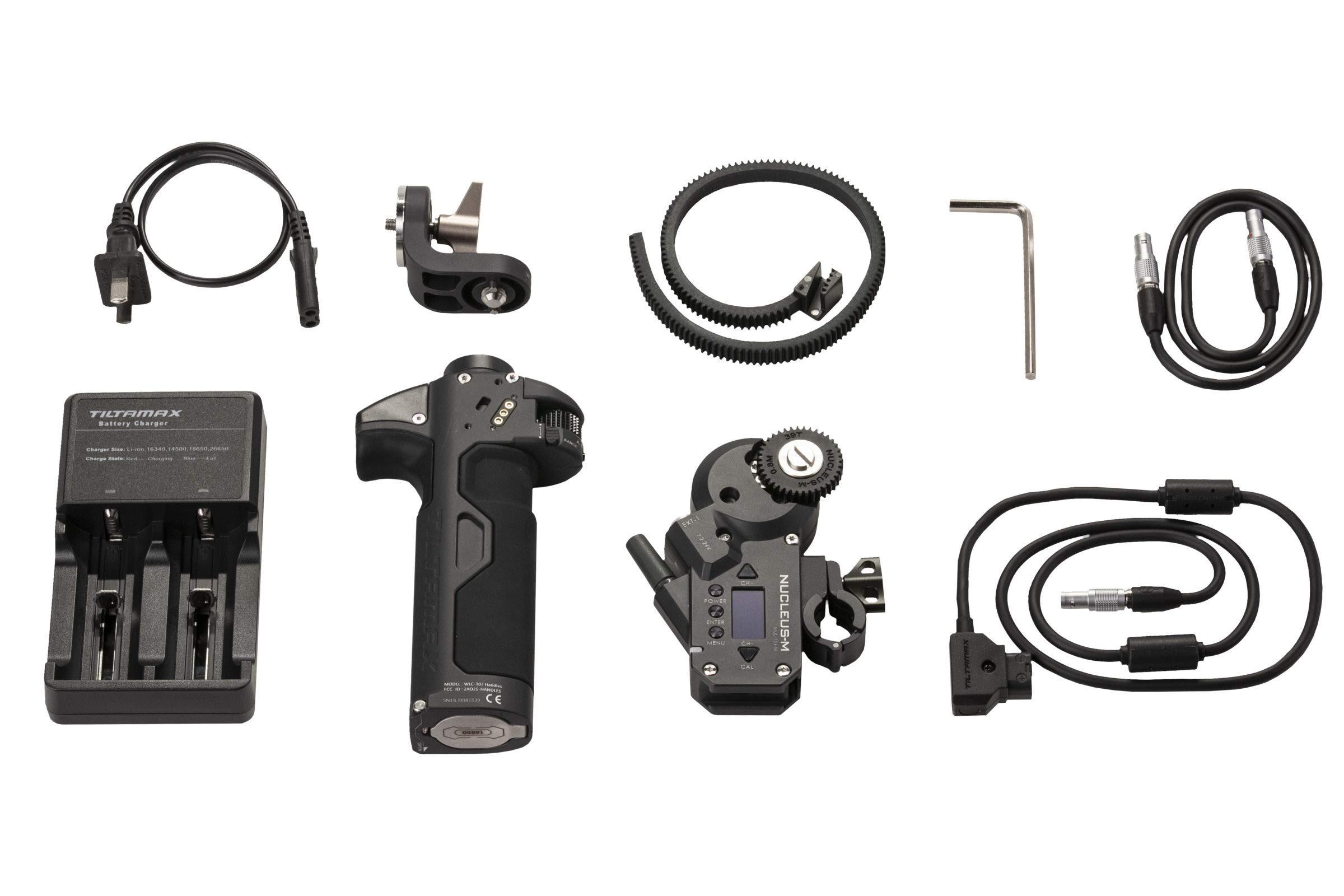 TILTA WLC-T03-K3 Nucleus-M Wireless Follow Focus Lens Control System Partial Kit III Left Handgrip WLC-T03-HL with Motor Nucleus-M Motor WLC-T03-M by Tilta