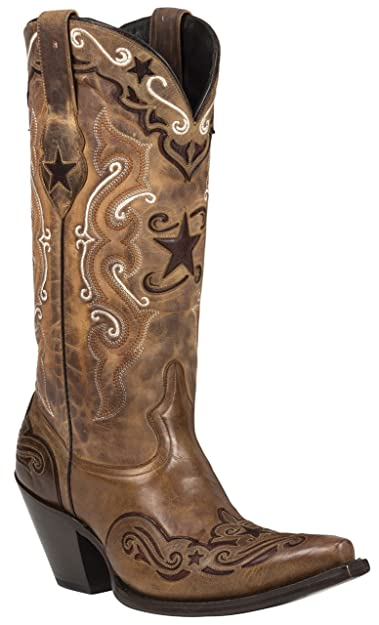 STARR (Brown/Red) Women's Cowboy Boots