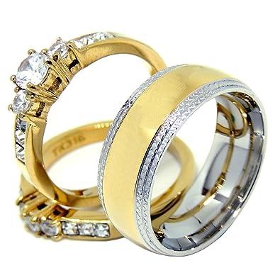 Amazon.com: Lanyjewelry - Anillo de matrimonio con ...