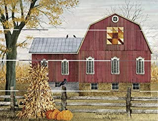 product image for Rustic Pallet Art Autumn Leaf Quilt Block Barn - Amish Made in The USA
