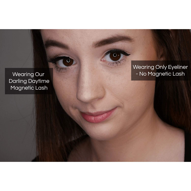 Day to Night Magnetic Eyeliner and Eyelash Kit - Reusable Silk False Lashes - Natural Look [No Glue] - By Clevermore Essentials by Clevermore Essentials, LLC. (Image #4)