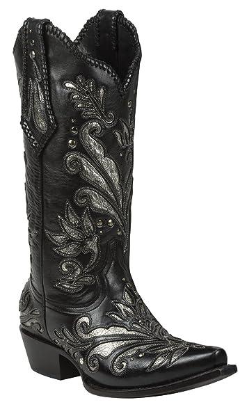 Amazon.com | Black Star ZAVALA (Black) Women's Cowboy Boots | Boots