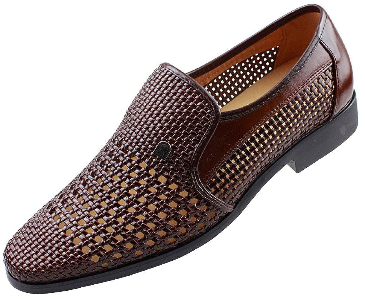 Männer Sommer Hohl Sandaleen Derby Schuhe Geschäft Casual Schuhe Handgewebte Atmungsaktiv