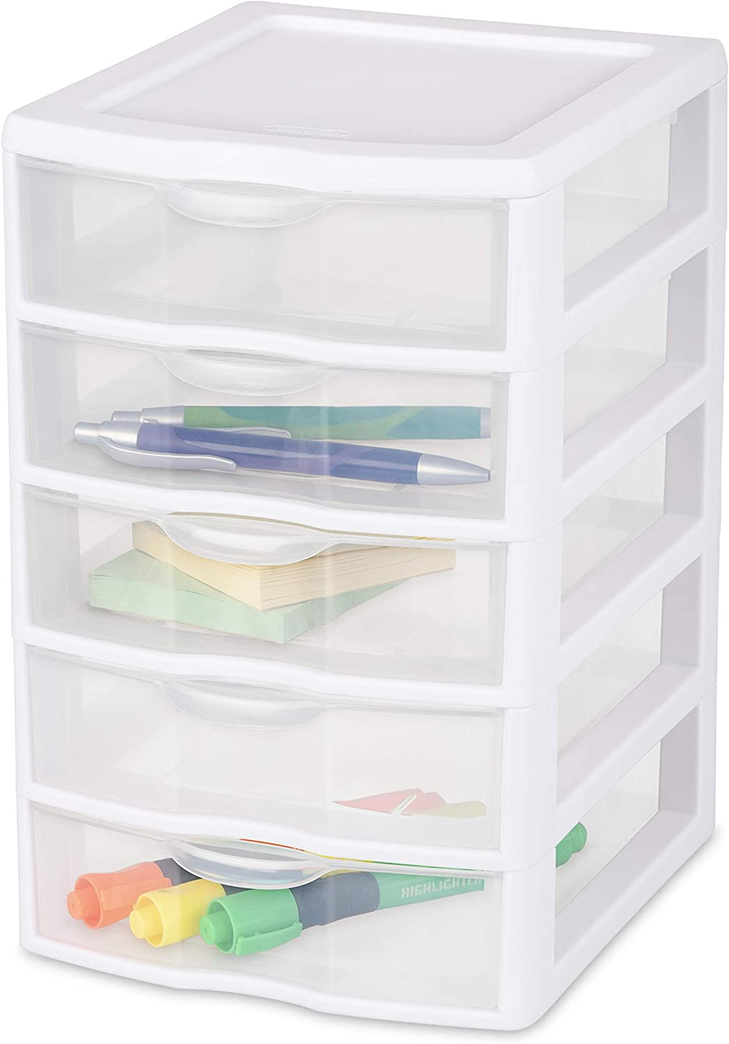 Sterilite 20758004 Clearview Small 5 Drawer Unit 4 Pack Amazon Ca Home Kitchen
