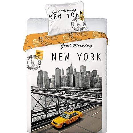 Copripiumino Singolo New York.Amazon Com Good Morning De Nueva York 2 Pieza Hoja Set 1 X Hoja