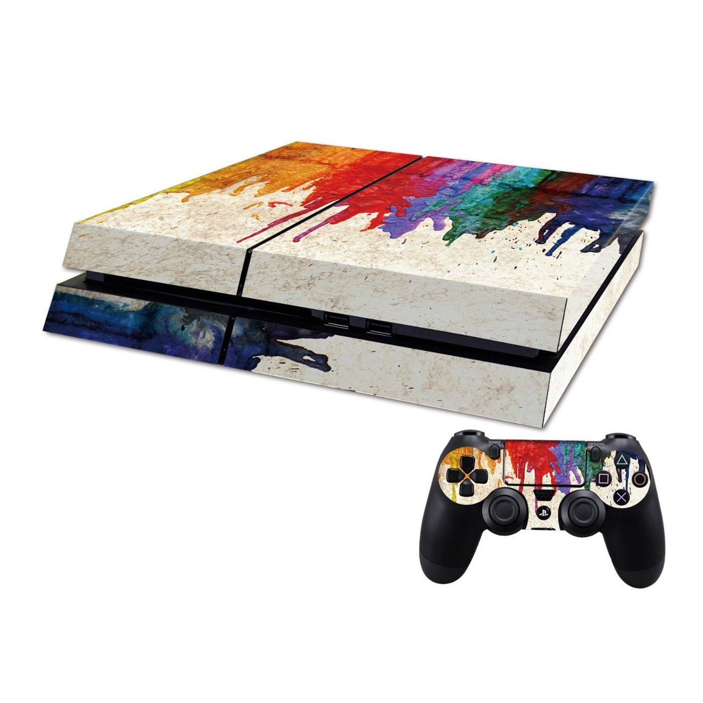 All White DOTBUY PS4 Vinyl Decal Autocollant Skin Sticker pour Playstation 4 console 2 Dualshock Manette Set