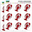 "Lobster 2"" Planner Calendar Scrapbooking Crafting Stickers - Opaque"