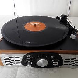 Amazon.es:Opiniones de clientes: 1 BY ONE Tocadiscos estéreo de 3 ...