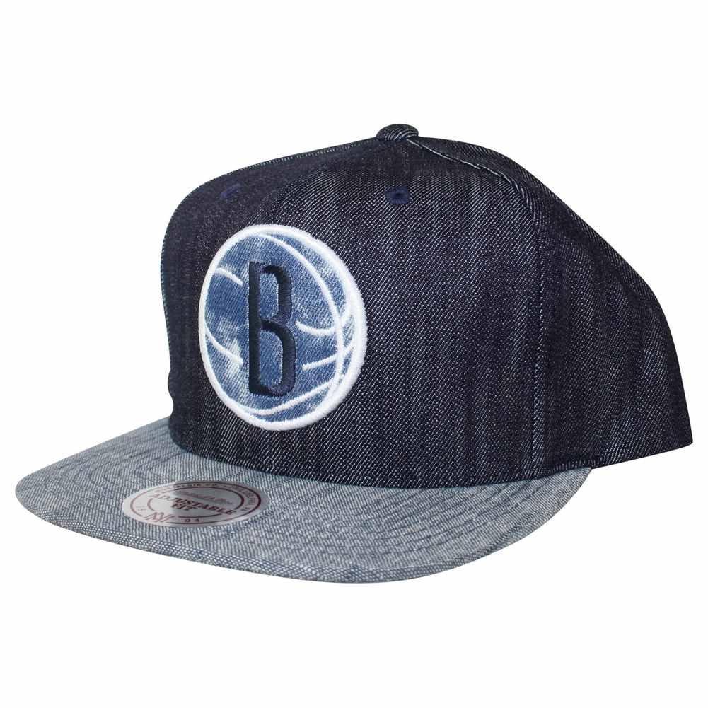 Mitchell & Ness Gorra NBA Linen Brooklyn Nets Azul/Gris Talla ...
