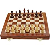 Best Chess Premium Wooden Handcrafted Folding Chess Set with Magnetic Pieces, 10X10 Inches