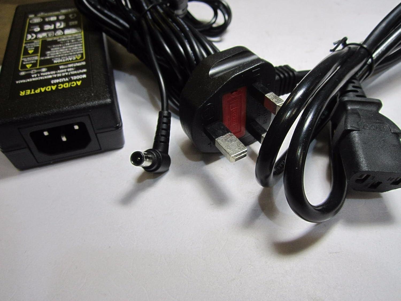 UK Plug 24V Mains Soundbar AC//DC Adapter for Samsung A6024/_DSM 24.0V 2.5A 60W