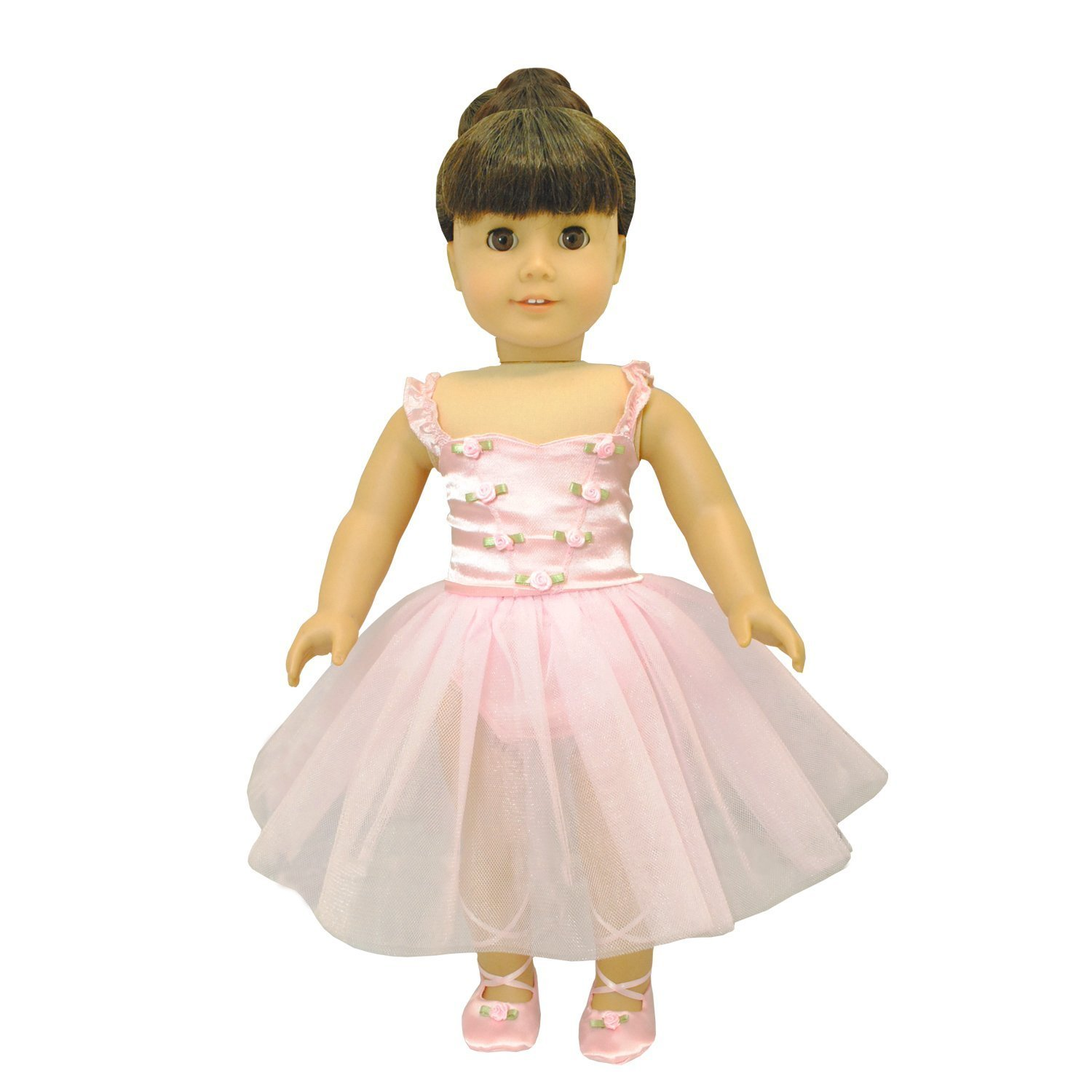 1e658400f Amazon.com: Pink Butterfly Closet Ballet Ballerina Dance Dress for 18-inch  Dolls : Toys & Games