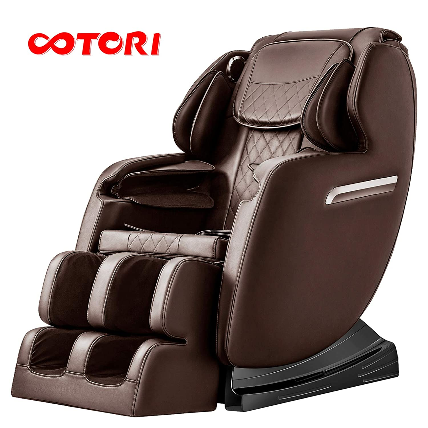 OOTORI Zero Gravity Massage Chair, S-Track Full Body Shiatsu Massage Chair, 3-Row-Footroller, Roller Massage from Neck to Hip,Bluetooth and Heater. Brown