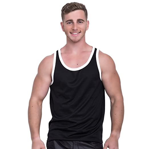 5ed8fc6b05d60d Taddlee Tank Top Men Bodybuilding Undershirts Solid Tshirt Sleeveless  Muscle Gym (S