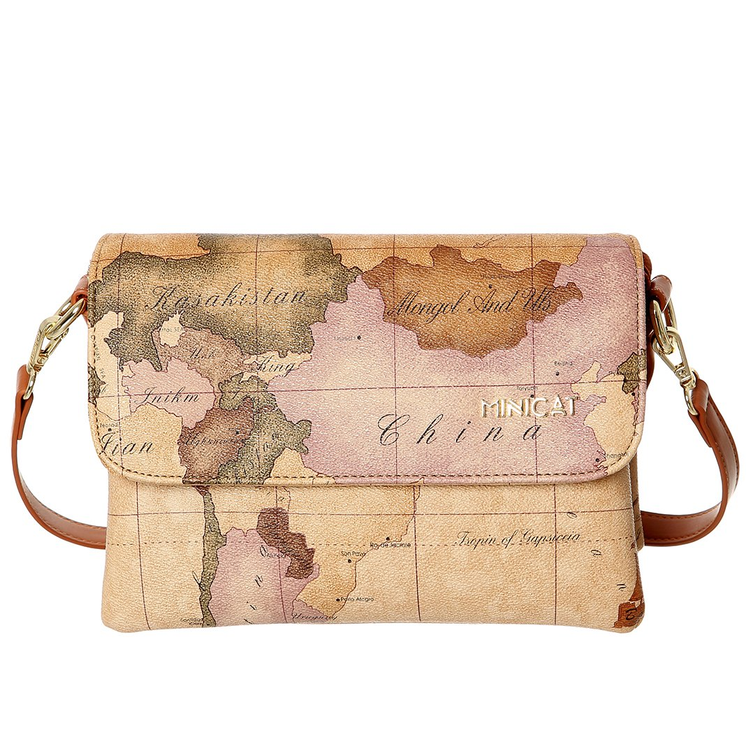 90c692e015b2 MINICAT World Map Series Synthetic Leather Small Crossbody Cell Phone Purse  Wallet Smartphone Bags For Women (Map-Bigger)  Handbags  Amazon.com