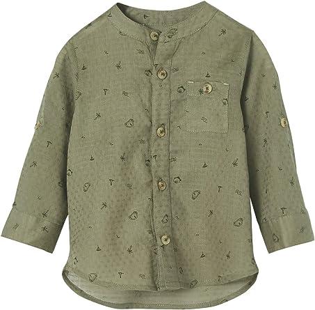 VERTBAUDET Camisa para bebé niño con Cuello Mao: Amazon.es: Ropa y accesorios