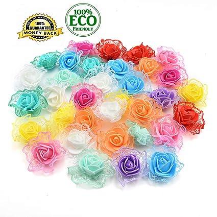 Amazon Silk Flowers In Bulk Wholesale Mini Pe Foam Rose
