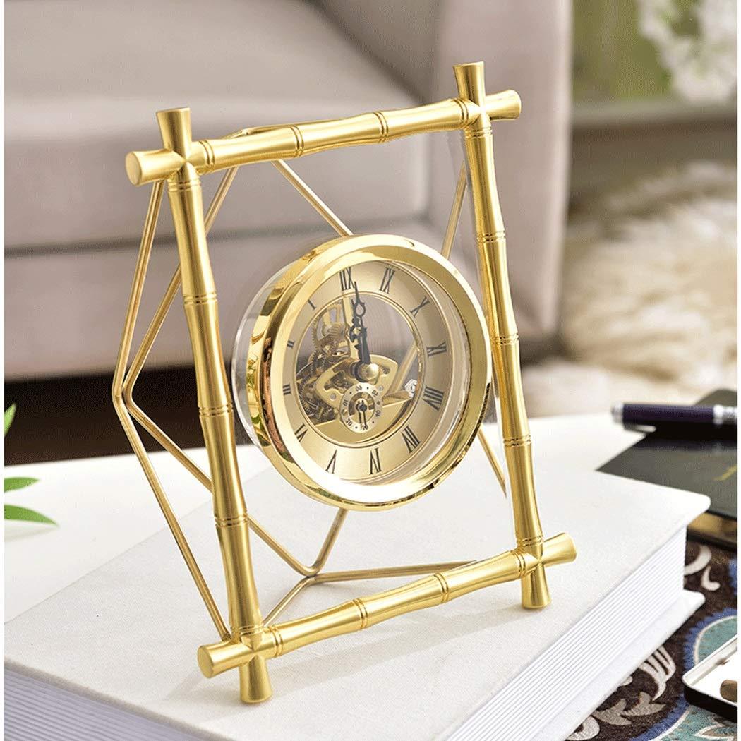 HONGNA Table Gear Rotating Clock Clock Seat Living Room Bedroom Clock Decoration Creative Retro Table Clock Titanium Body (Size : 17227.5cm) by HONGNA (Image #4)