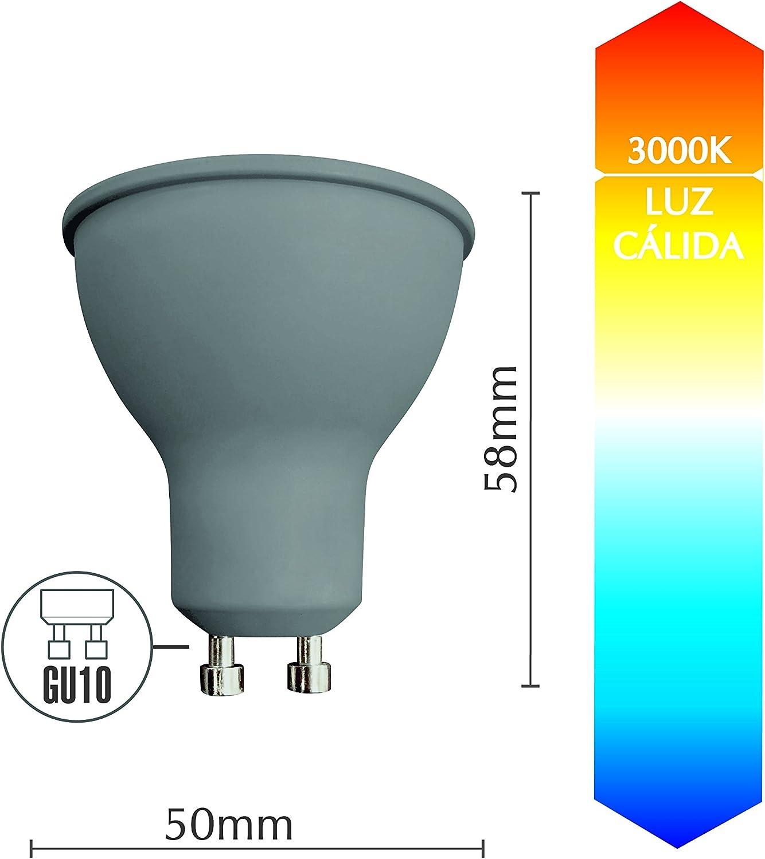 Pack de 3 bombillas LED Spotlight SevenOn LED 54893, 7.5W ...